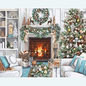 Christmas Interior 2394 - borduurpakket met telpatroon Luca-S      Artikelnummer: luca-b2394
