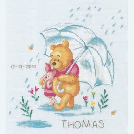 Winnie Feeling Sentimental - Disney borduurpakket met telpatroon Vervaco |  | Artikelnummer: vvc-172703