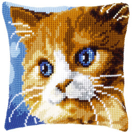 Brown Cat - Vervaco Kruissteekkussen  |  | Artikelnummer: vvc-149441