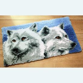Wolves - knooptapijt Vervaco | Smyrna tapijt met wolven | Artikelnummer: vvc-2565-38025