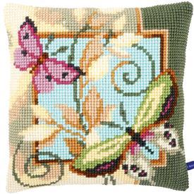 Deco Butterflies- Vervaco Kruissteekkussen |  | Artikelnummer: vvc-154959