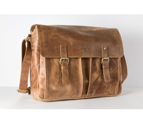 Messenger Bag No 4-1 (M) | Camel | Artikelnummer: HR-SA-4-1_c