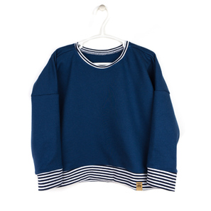 Navy Striped Sweater | Bio Sweat | Artikelnummer: 16346845
