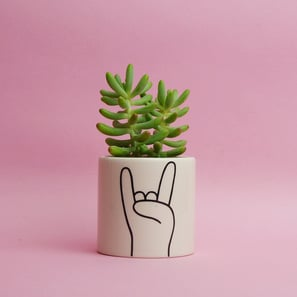 Rock On Mini Pot | Übertopf von Louise Madzia | Artikelnummer: LM-RockOn