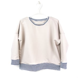 Sand Striped Sweater | Bio Sweat | Artikelnummer: 140