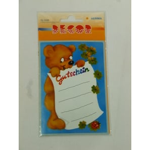 Teddy - Gutschein, Decor Sticker | Decor Sticker | Artikelnummer: LA160H