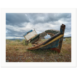 Stranded Boat, Front | Strait of Magellan, Patagonia, Chile, 2019 | Edition Print 24   unlimitiert | Bildnummer: X1d_190115_016-24