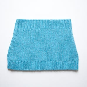 Basic Plain Loop Scarf | 100% Cashmere, Colour: Air Blue  | Code: 0716AS050155XXX
