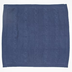 Baby Blanket JULES with Cable Pattern | 100% Cashmere, Colour: Navy | Code: IB02018211