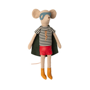 Maileg Stofftier | Super hero Mouse, medium, Boy, Superman- Maus, Junge, Herbst/Winter 2020 | Artikelnummer: 16-0752-00