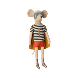 Maileg Stofftier | Super hero Mouse, maxi, Boy, Superman- Maus, Junge, Herbst/Winter 2020 | Artikelnummer: 16-0761-00