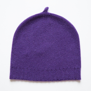 Basic Plain Hat | 100% Cashmere, Colour: Lilac | Code: 0716AH050141XXX