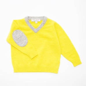 V-Jumper | 100% Cashmere, Colour: Lemon Yellow | Code: 0117BJ020111XXX