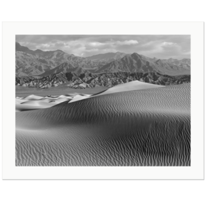 Dunes and Mountains | Death Valley National Park, California, 2015 | Edition Print 24   unlimitiert | Bildnummer: IQ180_151103_008bw-24
