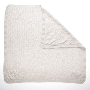 Baby Blanket SHILOH with Hood | 100% Cashmere, Colour: Light Grey Mélange | Code: IB06018181