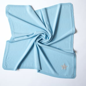 Cashmere Baby Blanket with Star | 100% Cashmere, Colour: Light Blue | Code: 0715IB010154S