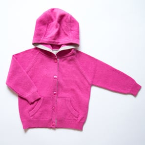 Hoody Cardigan, b) 6 months/68 cm | 100% Cashmere, Colour: Pink | Code: 0715BC050132068