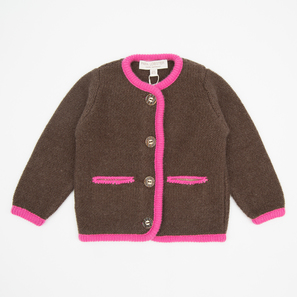 Oktoberfest Cardigan, e) 3 years/98 cm | 100% Cashmere, Colour: Brown | Code: 0715BC040171098