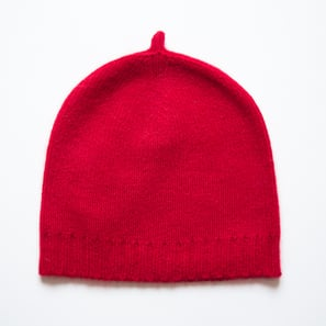 Basic Plain Hat | 100% Cashmere, Colour: Bordeaux | Code: 0716AH050135XXX