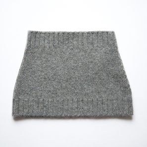 Basic Plain Loop Scarf | 100% Cashmere, Colour: Dark Grey Mélange | Code: 0716AS050182XXX