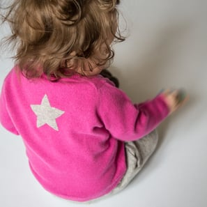 Cardigan with Star | 100% Cashmere, Colour: Pink | Code: 0714BC010132XXX