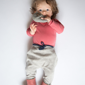 Baby Pants | 100% Cashmere, Colour: Light Grey Mélange | Code: 0715BP010181XXX