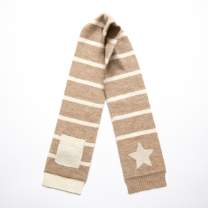 Scarf with Star and Pocket | 100% Cashmere, Colour: Beige Mélange | Code: 0715AS010102XXX