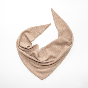 Triangle Scarf Ajour | 100% Cashmere, Colour: Beige Mélange | Code: 0117AS040102XXX