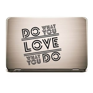 Laptop Sticker DO WHAT YOU LOVE - Skin Aufkleber  |  | Artikelnummer: 55673555