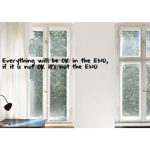 Wandtattoo EVERYTHING WILL BE OK IN THE END  |  | Artikelnummer: 55835135
