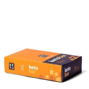 Keto Bar - der Riegel von perfect KETO  | 12er Pack, Salted Caramel