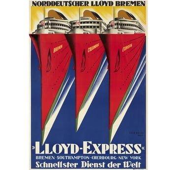 Lloyd Express | Advertising Poster 1929 | Artikelnummer: POD-PI-2909