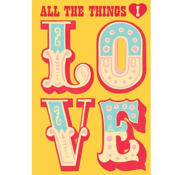 Sukie All The Things I Love | Tagebuch, 13,5 x 19,5cm | Artikelnummer: 9781452165332