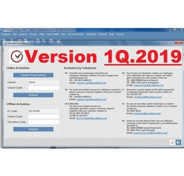 Teile-Katalog ​TecAlliance 1Q.2019 , Vollversion fertig installiert | Windows 7 bis 10 nur 64bit, VM-Ware fertig installiert | Artikelnummer: 000001112