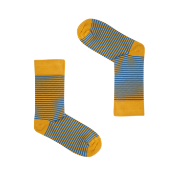 Classic Mustard & Blue Striped Socks | Grösse 36 - 41 | Artikelnummer: socks_clas000017