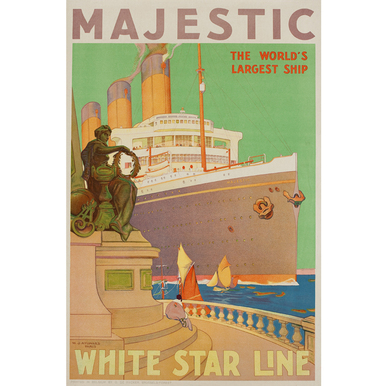 Advertising poster 1932 | Majestic - White Star Line | Artikelnummer: PODE-PI-4395-A2S