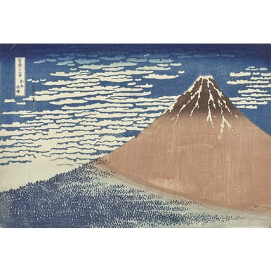 36 views of Mount Fuji (Series) | South wind, clear dawn | Artikelnummer: POD-KI-10996-A3S