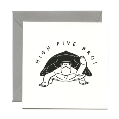 High Five Bro! – Grußkarte / Greeting card | Buchdruck / Letterpress | Artikelnummer: wrap_high5