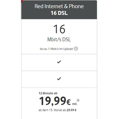 Red Internet & Phone 16 DSL |  | Artikelnummer: 3001