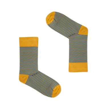 Classic Mustard & Blue Striped Socks | Grösse 42 - 46 | Artikelnummer: socks_clas000018