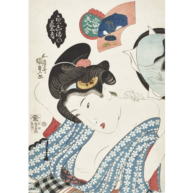 Geisha Preparing Herself | Collection of Beautiful Women of the Present | Artikelnummer: PODE-HM 11486
