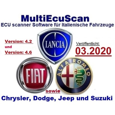 Fiat Multiecuscan 4.2 und 4.6R1 Erscheinungsdatum 03.2020, inclusive Registrierung zur Vollversion, Mehrsprachig , Multiecuscan = Multi-ECU-Scan | Alle Windows Systeme, Voll Registrierte Version | Artikelnummer: 000001164