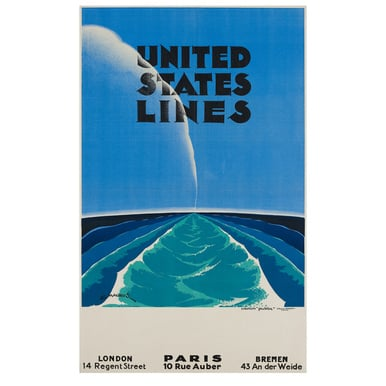 United States Lines | Advertising Poster 1935 | Artikelnummer: POD-PI-4448