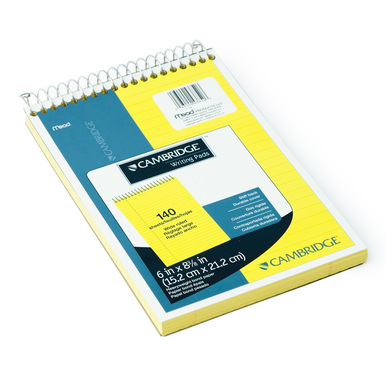 DIN A5+ – Cambridge Block – Legal Pad mit Spiralbindung | 1 Block / 1 Pad | Artikelnummer: 43852-1