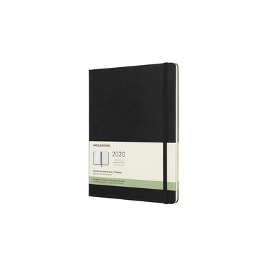 2020 Moleskine Weekly Notebook XL | Hardcover, schwarz / black | Artikelnummer: 628868-hard