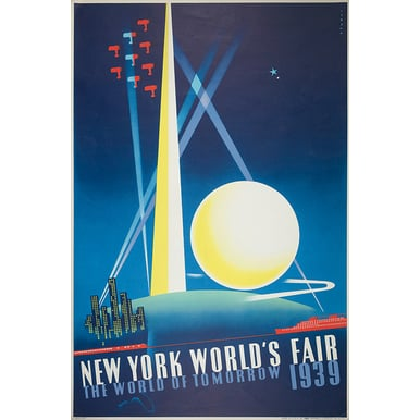 Advertising poster 1933 | New York World's Fair | Artikelnummer: PODE-PI-4198-A1
