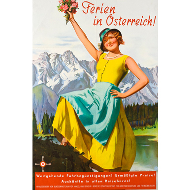 Advertising poster 1933 | Ferien in Österreich | Artikelnummer: PODE-PI-3063-A2