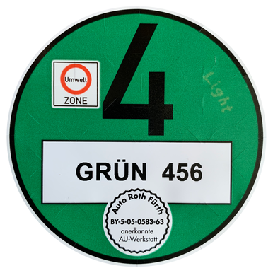 Environmental badge for foreign vehicles registrations |  | Artikelnummer: 1001-2