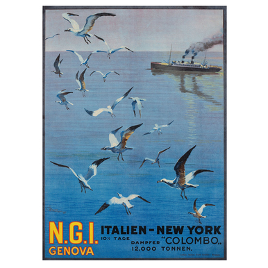 N.G.I. Genova. Italien - New York | Advertising Poster 1921 | Artikelnummer: POD-PI-588-A2S