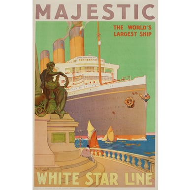 Advertising poster 1932 | Majestic - White Star Line | Artikelnummer: PODE-PI-4395-A3